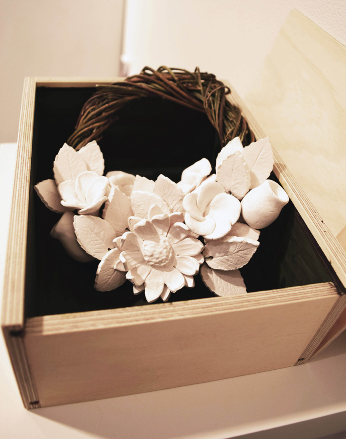 30. Catherine Swioklo, 'White Wreath', porcelain, vine