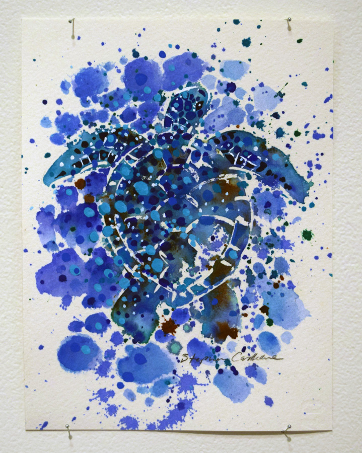 32. Stephen Castledine, 'Carapace', watercolour on paper