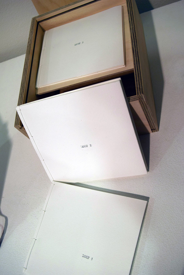 42. Vanessa Wallace, 'Loop', Artists books, achival inkjet print and typewriter text on Inbe rice paper and BFK Rives