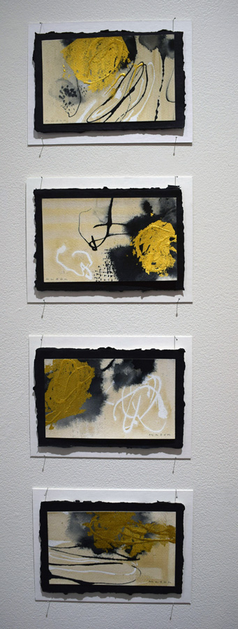 47. Gayle Mason, 'Fragile', 23k gold leaf, ink on Fabriano cotton rag paper