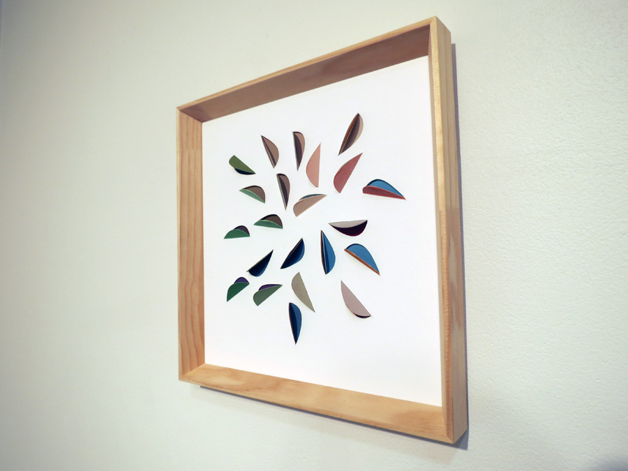 19. 'Leaf Impression 3', Sarah Thornton-Smith, gouache on cutouts, framed, $350
