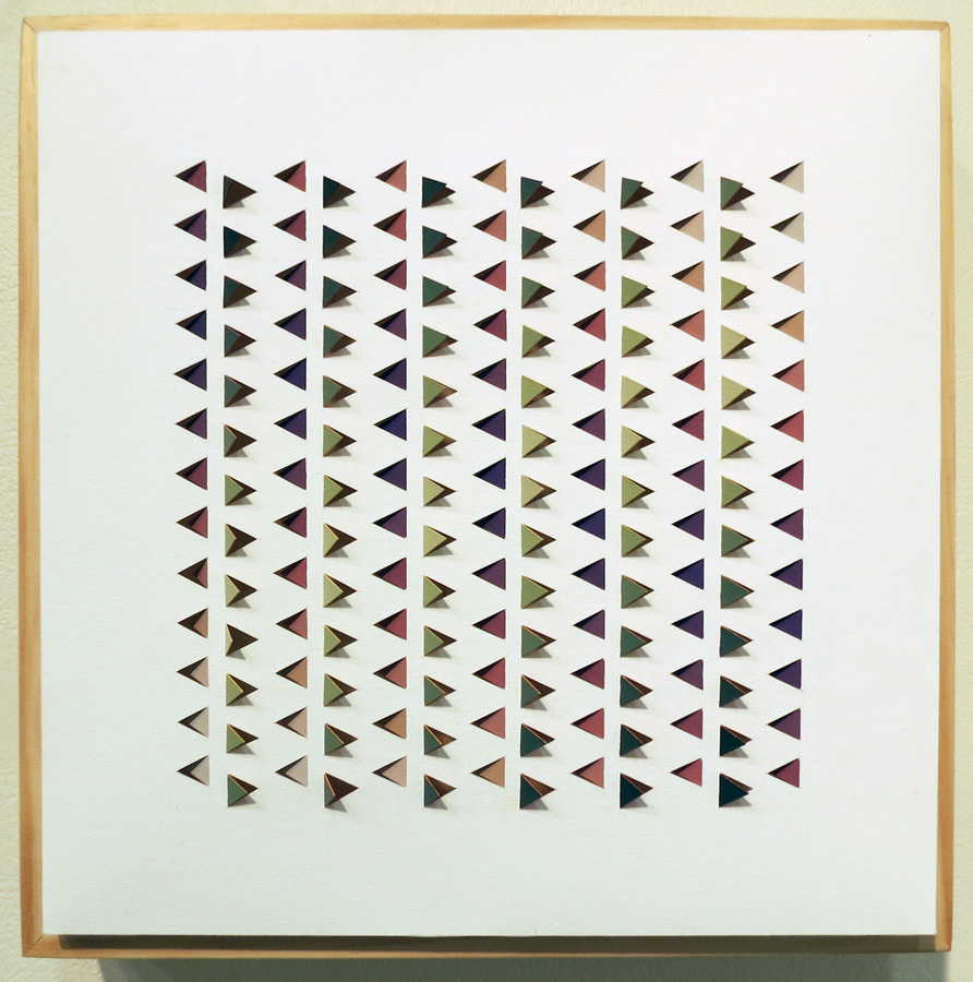 21. 'Electro Backbeat 2', Sarah Thornton-Smith, gouache on paper, boxed frame, $360