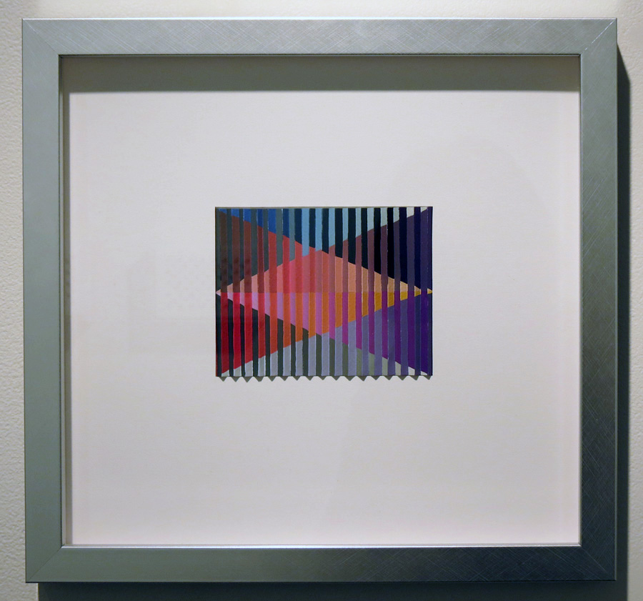 35. 'Reintegration', Sarah Thornton-Smith, gouache on paper, framed, $420