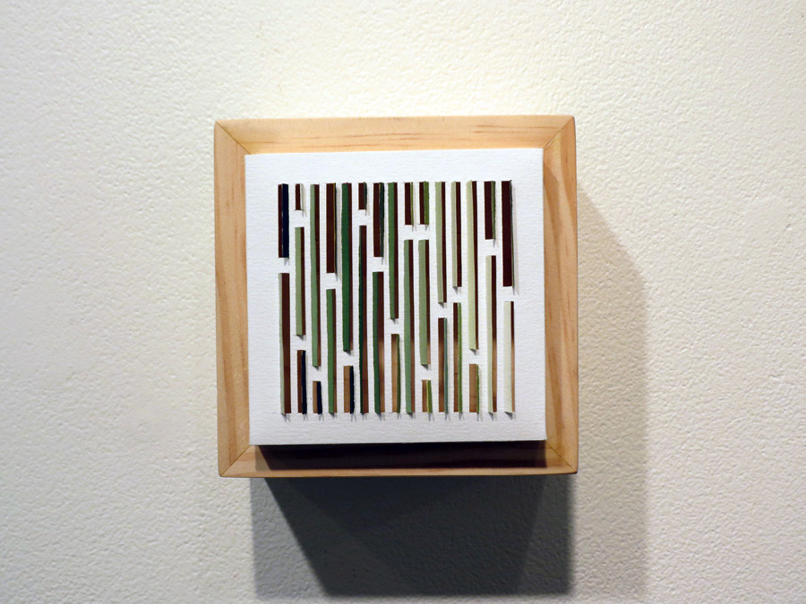 36. 'Bark Shingle 1', Sarah Thornton-Smith, gouache on paper, boxed frame, $220