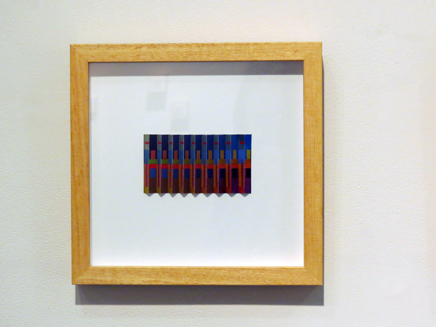 42. 'Syncopated Blues', Sarah Thornton-Smith, gouache on paper, framed, $360