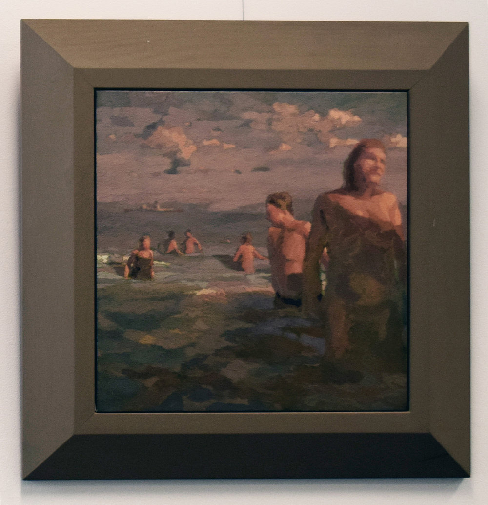 36. Gina Moore, 'Early Morning Swimmers', 2000, oil on canvas, NFS