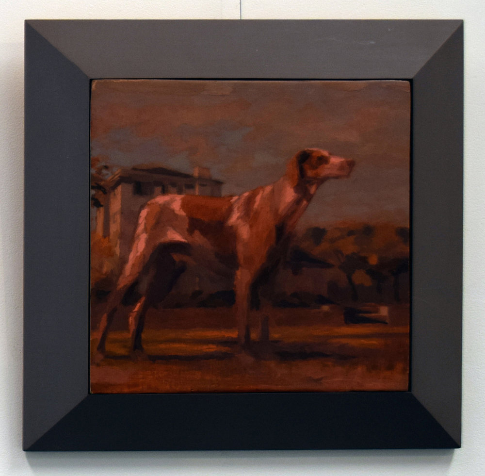 37. Gina Moore, 'Portrait of an Aging Dog', 1999, oil on canvas, NFS