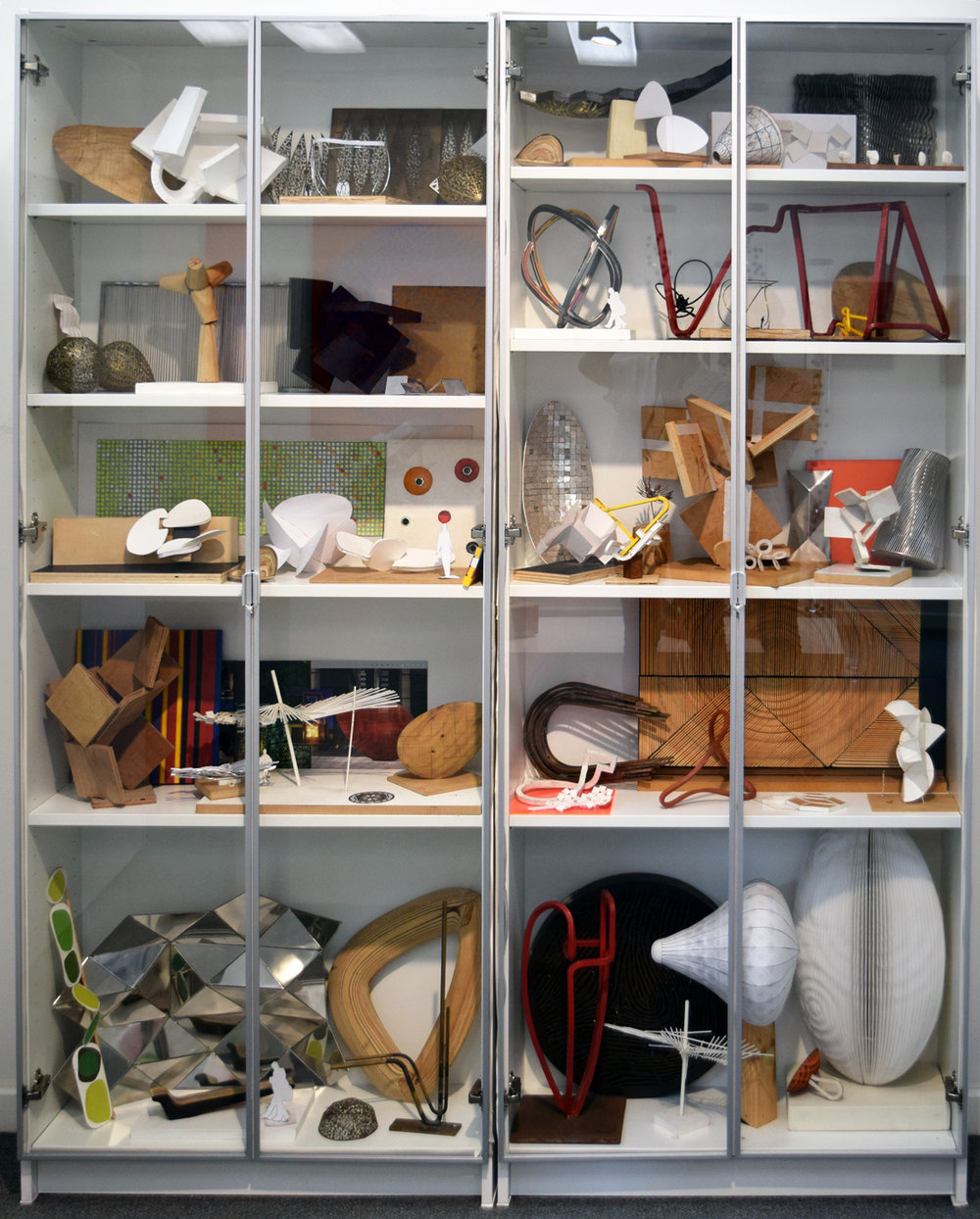 49. Stuart Green, 'Two Cabinets of Sketch and Development Models', 2002-17, mixed media, NFS
