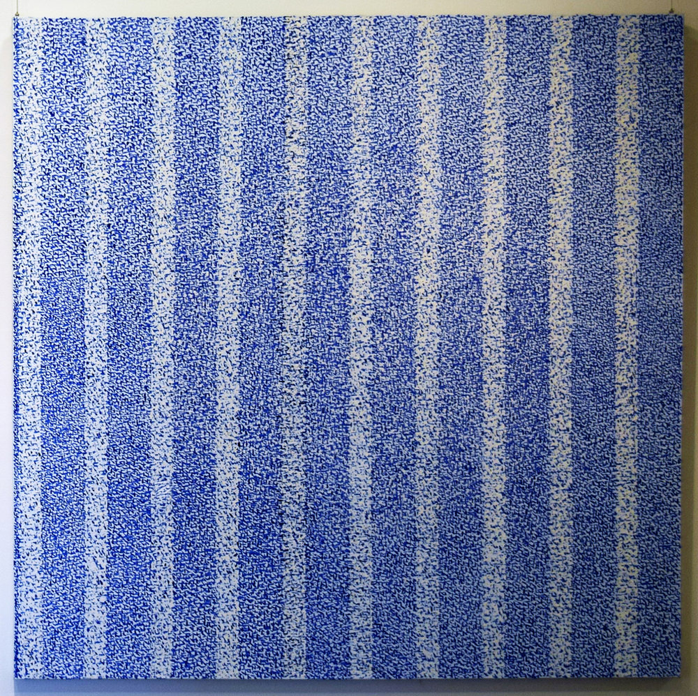 18. Dragica Milunovic, 'Marks Series 4 (No. 14)', 2013, oil on canvas, $5,000