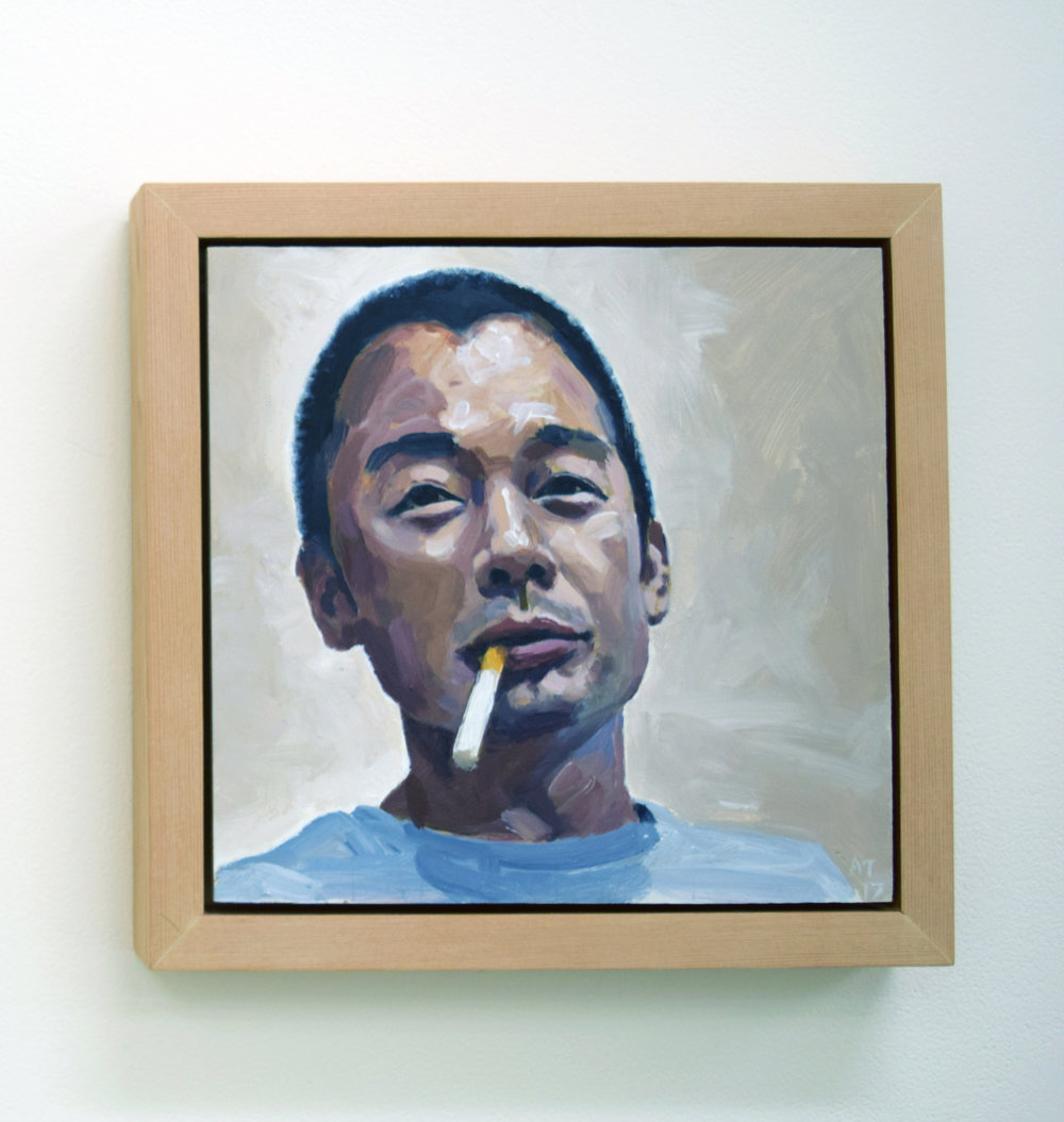 2. Alastair Taylor, 'Portrait of Ming', 2017, acrylic on board, $380