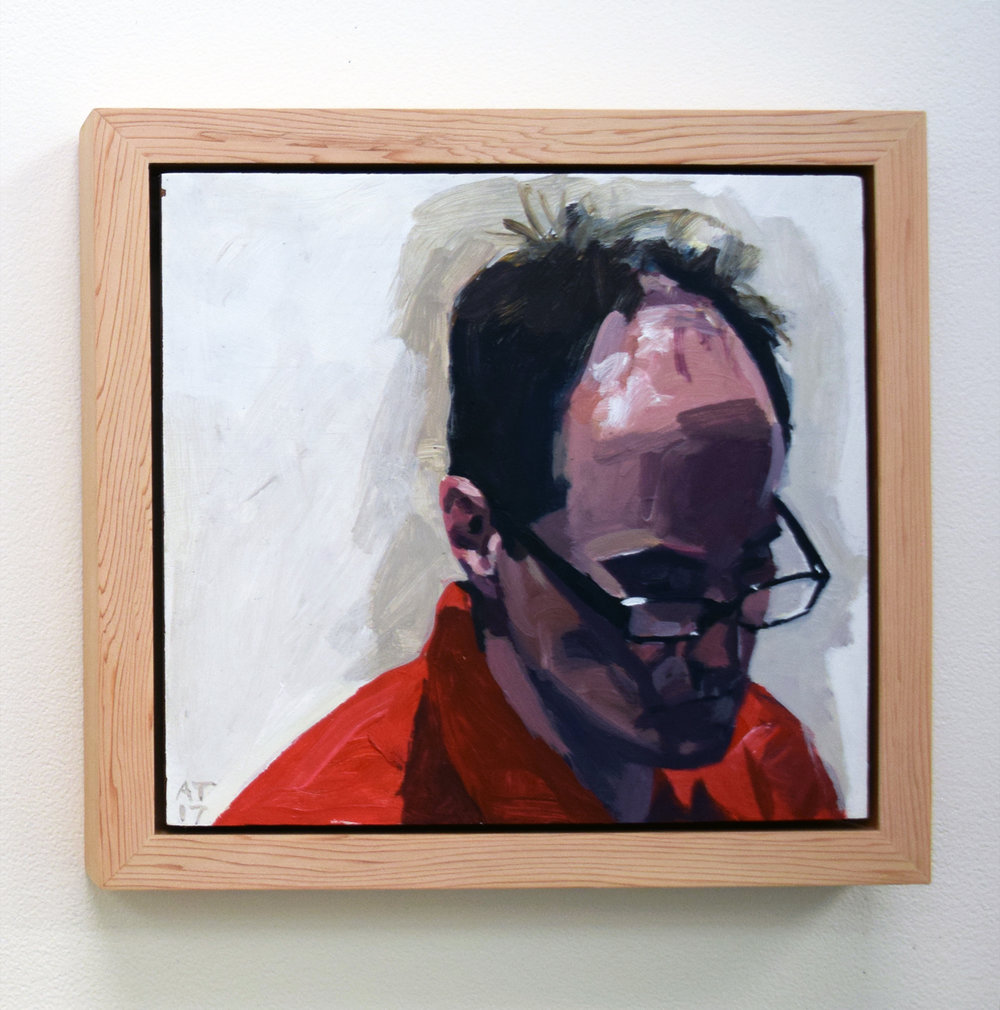 4. Alastair Taylor, 'Portrait of Bruce', 2017, acrylic on board, $380