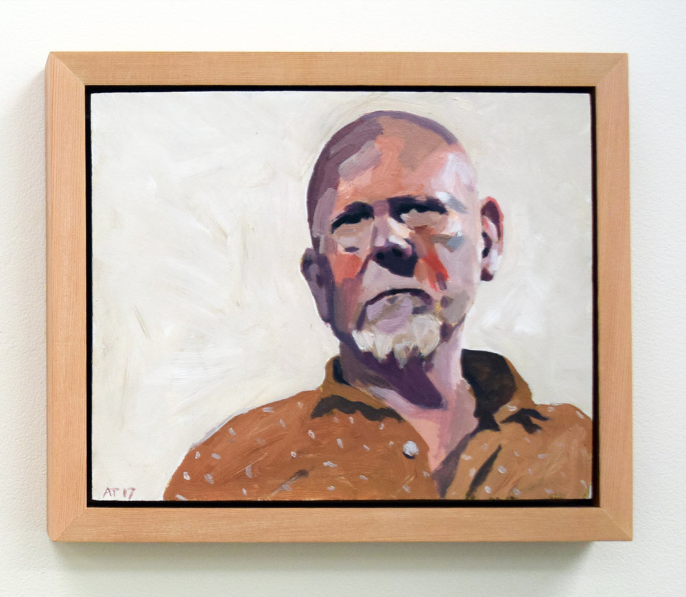 6. Alastair Taylor, 'Portrait of Mark', 2017, acrylic on board, $380