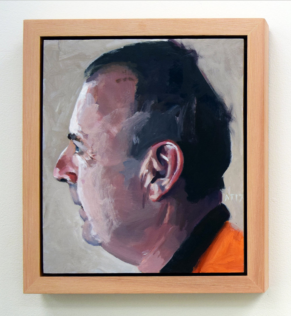 5. Alastair Taylor, 'Portrait of Gary', 2017, acrylic on board, $380