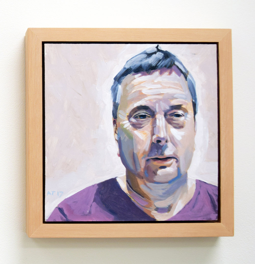 8. Alastair Taylor, 'Portrait of Authur', 2017, acrylic on board, $380