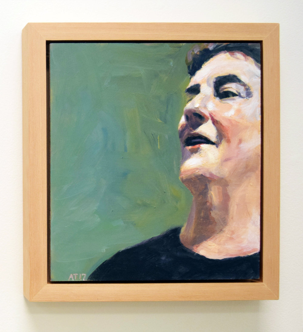 10. Alastair Taylor, 'Portrait of Berwyn', 2017, acrylic on board, $380