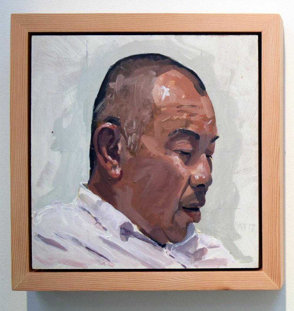 11. Alastair Taylor, 'Portrait of Kin', 2017, acrylic on board, $380