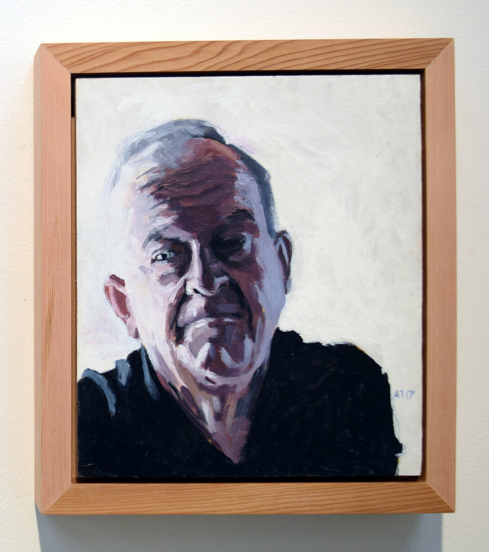 12. Alastair Taylor, 'Portrait of Michael', 2017, acrylic on board, $380