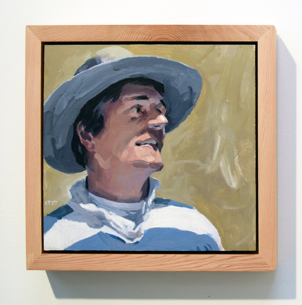 13. Alastair Taylor, 'Portrait of Gus', 2017, acrylic on board, $380