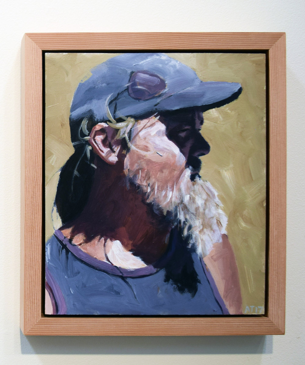 18. Alastair Taylor, 'Portrait of Brendan', 2017, acrylic on board, $380
