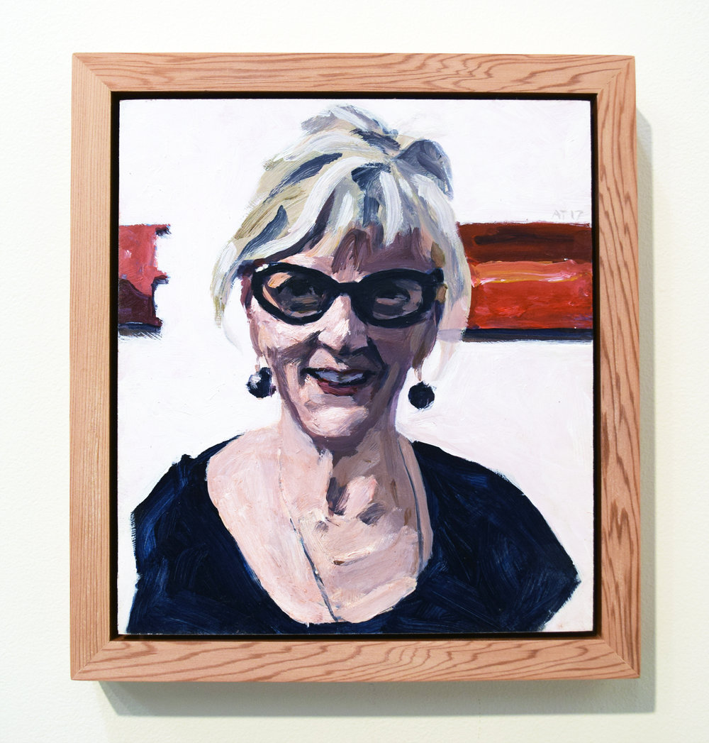 21. Alastair Taylor, 'Portrait of Lyn', 2017, acrylic on board, $380