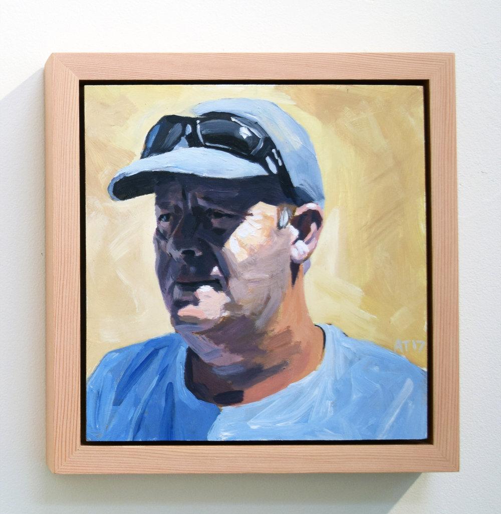 23. Alastair Taylor, 'Portrait of Darren', 2017, acrylic on board, $380