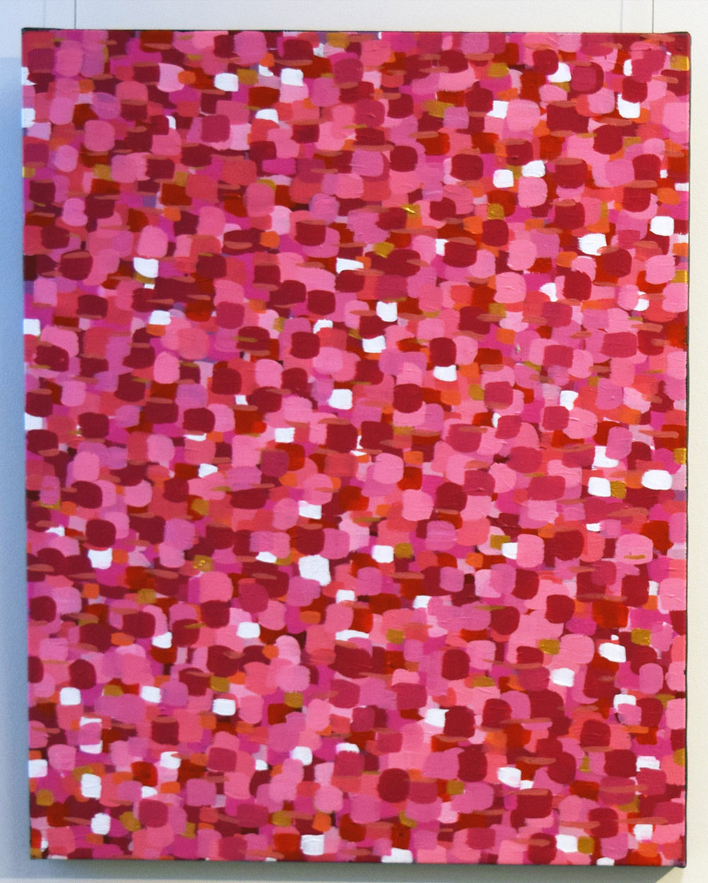8. Andrea Green-Ugle, 'Pink Everlastings', 2017, acrylic on Belgian linen, $1,120.jpg