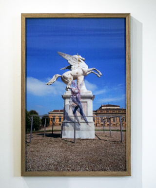 1. Andrew Nicholls,  Hubris of Bellerophon,  Lenticular print, Edition of 3 + artist's proof, 75 x 50 cm, $2,200