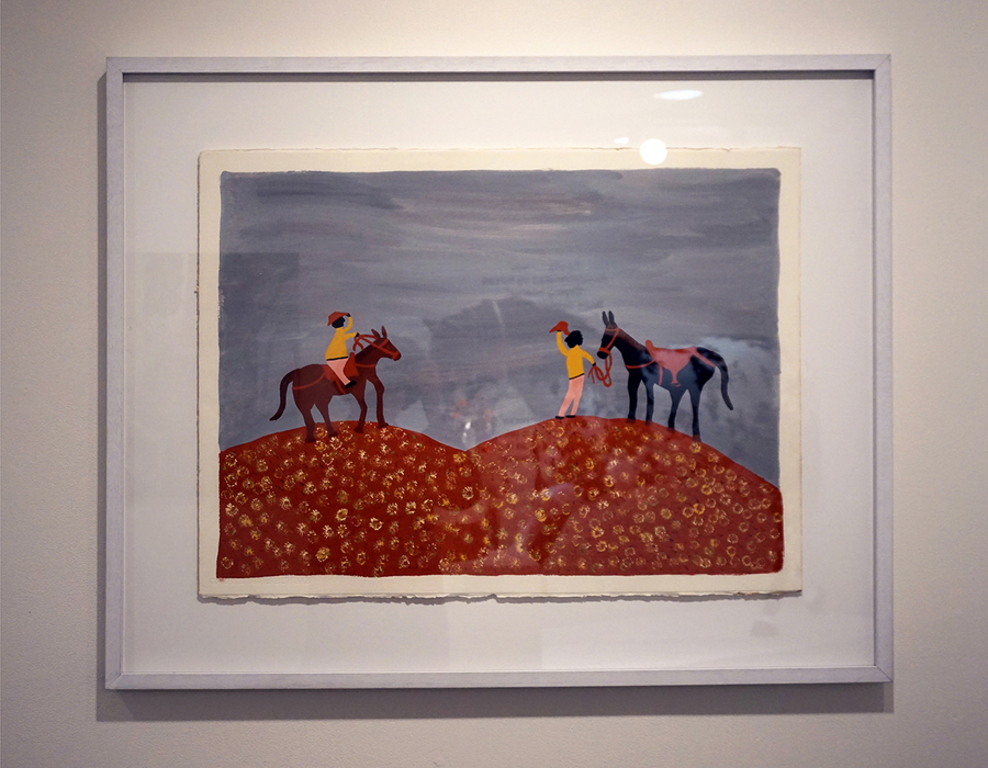 13. Jan Griffiths,  The Horse Tailor,  natural pigment on paper, 51 x 70 cm, $500