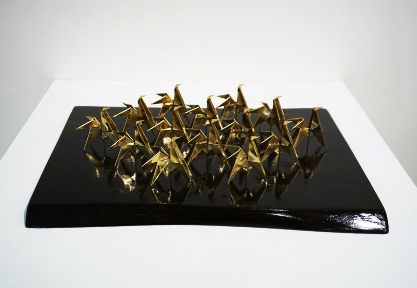 22. Yuko Takahashi, Pegasus, b rass, Tasmanian Blackwood, 10 x 45 x 34 cm, $2,500
