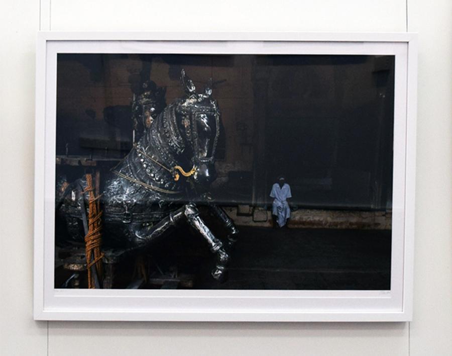 17. Clare Arni, Untitled (Horse God Chariots – Vishnu Rhanna), 50 x 76 cm unframed, $990