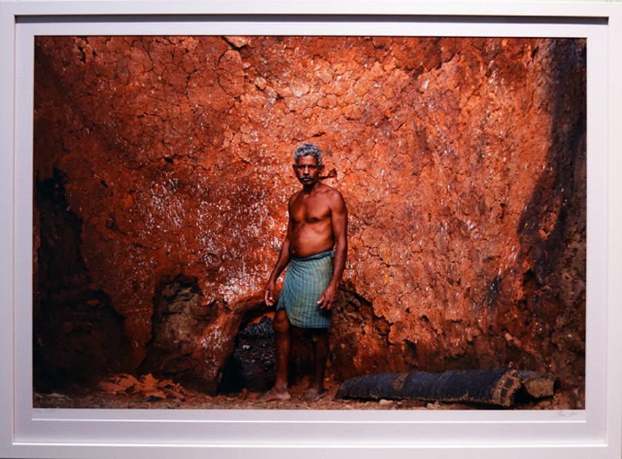 24. Clare Arni,Untitled (Potter at Work – Kasirajan in kiln), 50 x 76 cm unframed, $990