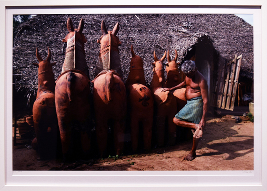 25. Clare Arni, Untitled (Potter at Work – Kasirajan with horses), 50 x 76 cm unframed, $990