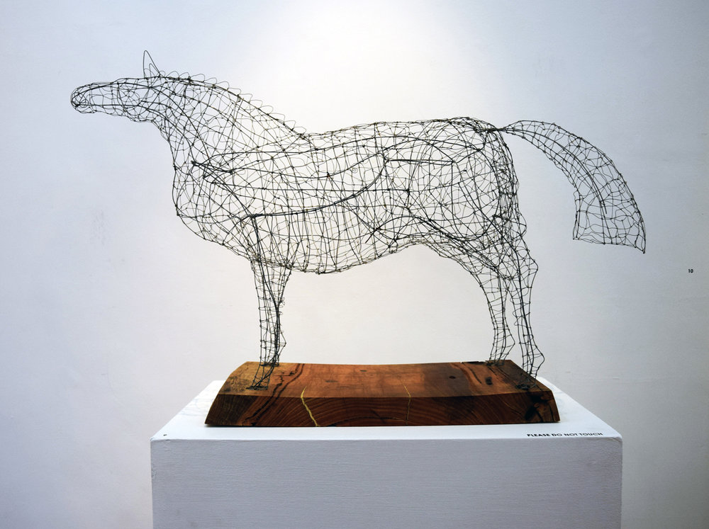 9. Alastair Taylor, Fillygree, steel wire, Marri 2017, 90 x 60 x 40 cm, $1,450
