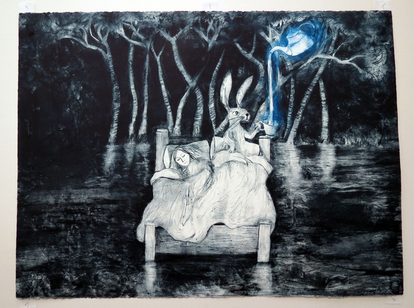 32. Dreams Poured Beneath Silence, Shana James, 2016, Drypoint (inked à la poupée), 2 of 6, $720
