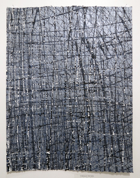 6. Iteration Silver Fields, TJ Bateson, Multiple block woodcut, AP, Image size 57 x 43.5cm paper size 57 x 43.5cm, edition available from PCA