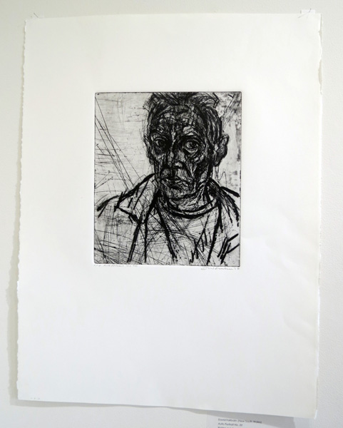 8. Auto Portrait No. 20, David Fairbairn, Etching and drypoint, AP, Image size 33 x 28cm paper size 76 x 56cm, edition available from PCA