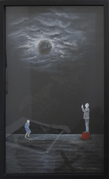 15. Peggy Lyon, 'Landscape of Belief', Mixed media on paper, 2009, 81 x 47.5 cm, On loan from a private Collection
