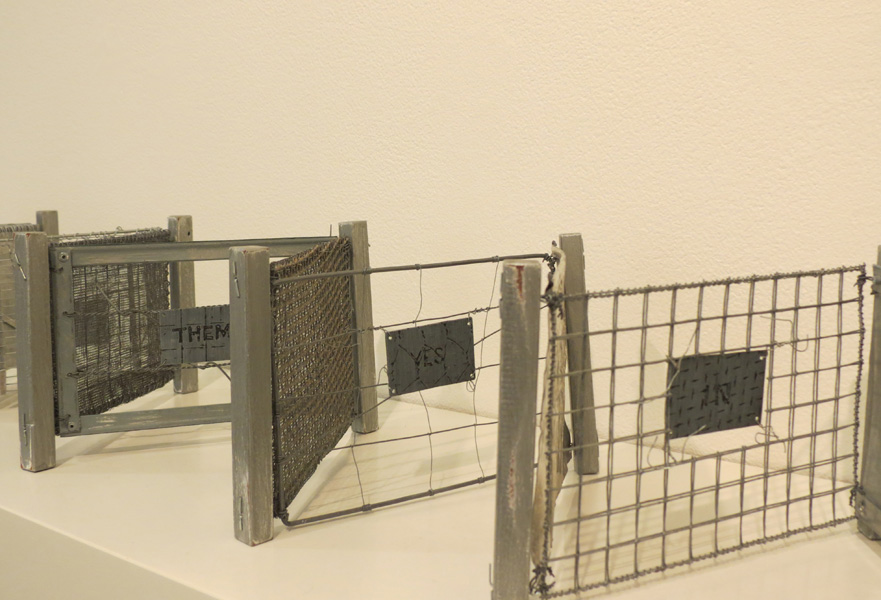 17. Peggy Lyon, 'Fence Mending Project' (detail), Metal, wire, 2005, dimensions variable, On loan from a private Collection