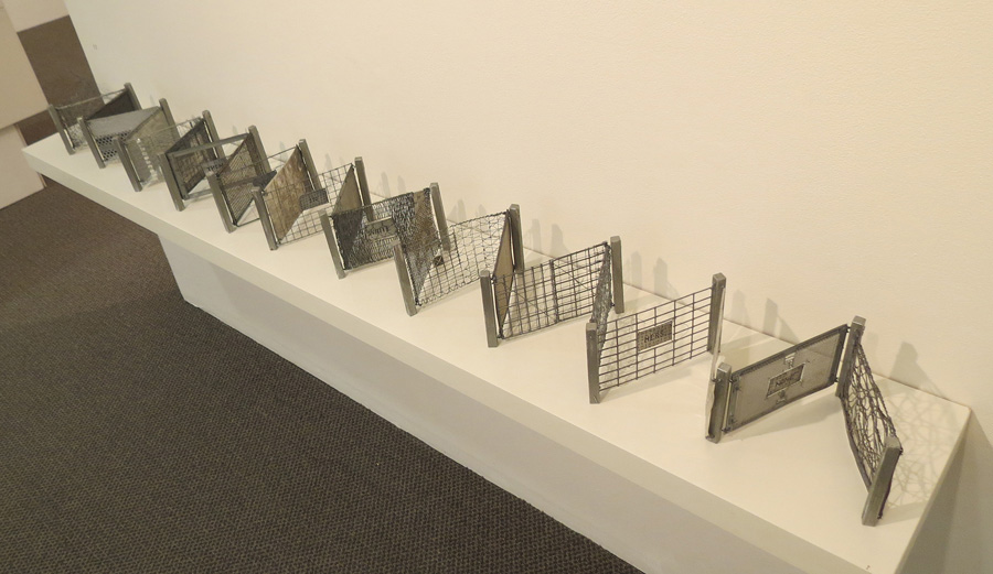 17. Peggy Lyon, 'Fence Mending Project', Metal, wire, 2005, dimensions variable, On loan from a private Collection