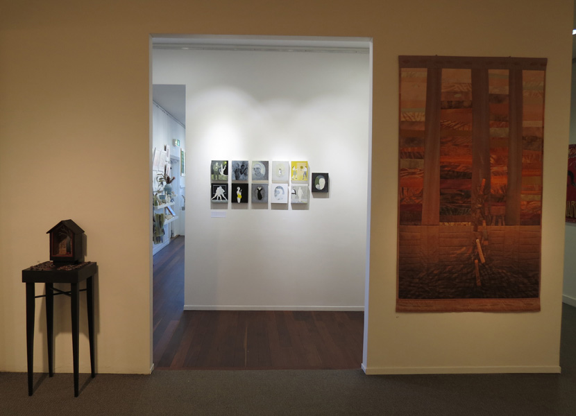 Peggy Lyon,  About Turn: A quiet, interrupted art life , East wall view