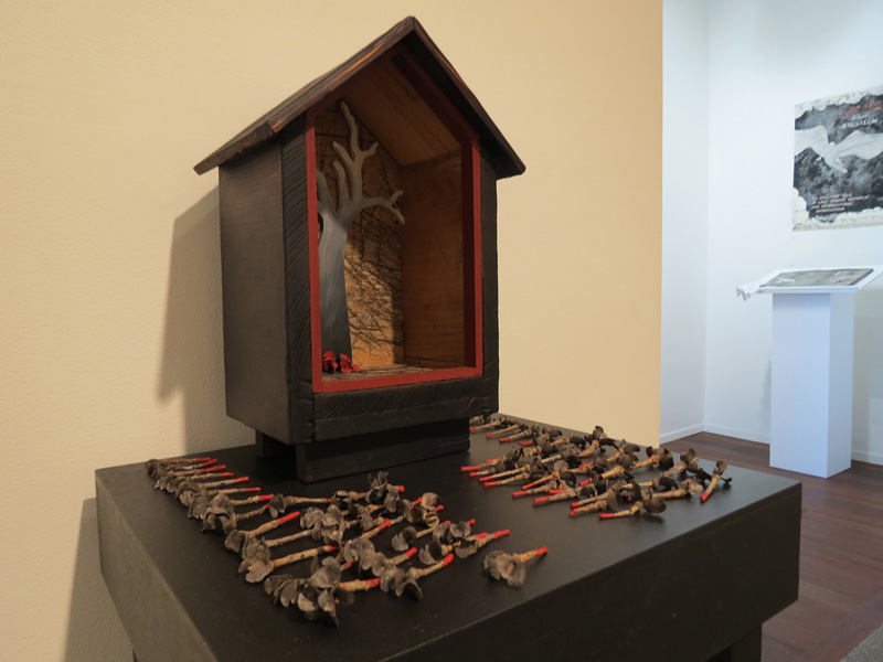 30. Peggy Lyon, 'Shrine' (detail), Timber, found objects, acrylic paint, 2011, dimensions variable, On loan from a Private Collection