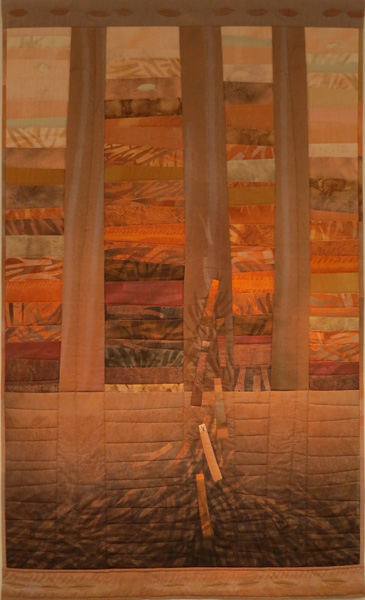 67. Peggy Lyon, 'Log Jam', Dyed textile, stitch, 1999, 201 x 117.5 cm, On loan from the Shire of Mundaring