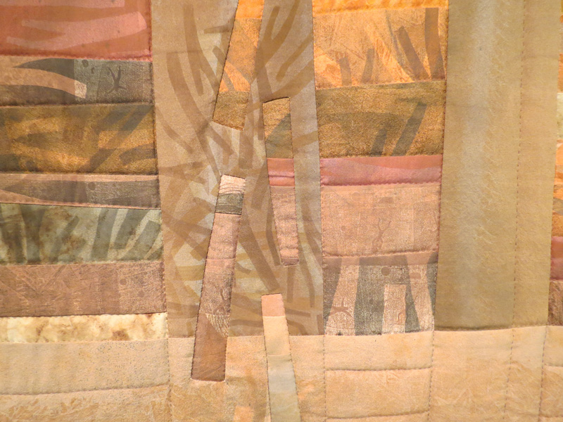 67. Peggy Lyon, 'Log Jam' (detail), Dyed textile, stitch, 1999, 201 x 117.5 cm, On loan from the Shire of Mundaring