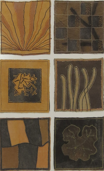 68. Peggy Lyon, 'Understory 1-6', Textile samplers cotton cloth, natural dyes, machine stitched, 2011, 12 x 12 cm each, $65 each
