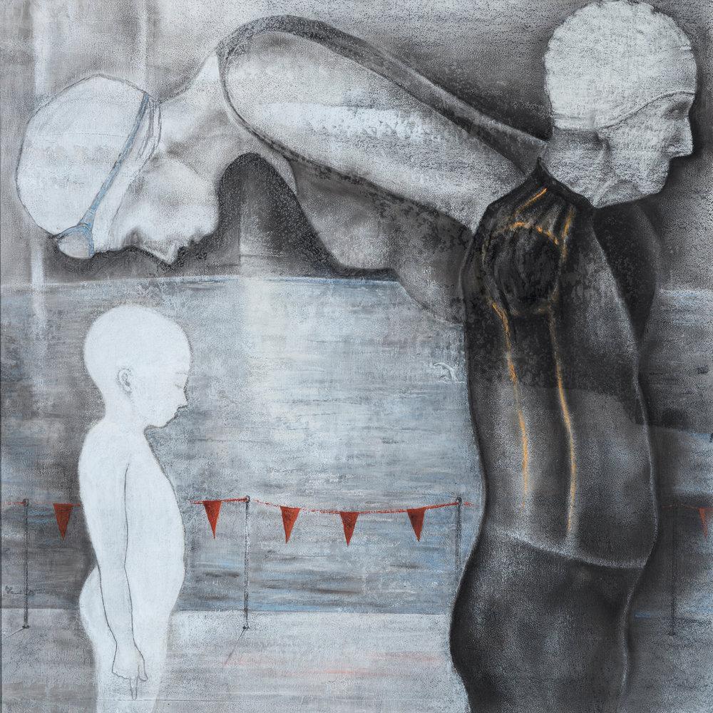 45. Peggy Lyon, 'Event 1', Acrylic, gouache, charcoal, pastel on paper, 2008, 57 x 57 cm, $850  Photographer Eva Fernandez