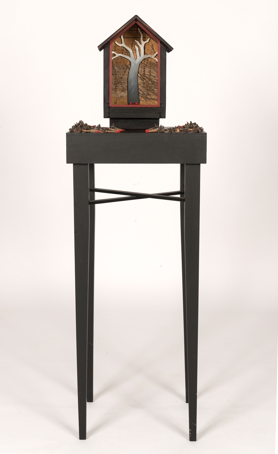 30. Peggy Lyon, 'Shrine', Timber, found objects, acrylic paint, 2011, dimensions variable, On loan from a Private Collection  Photographer Eva Fernandez