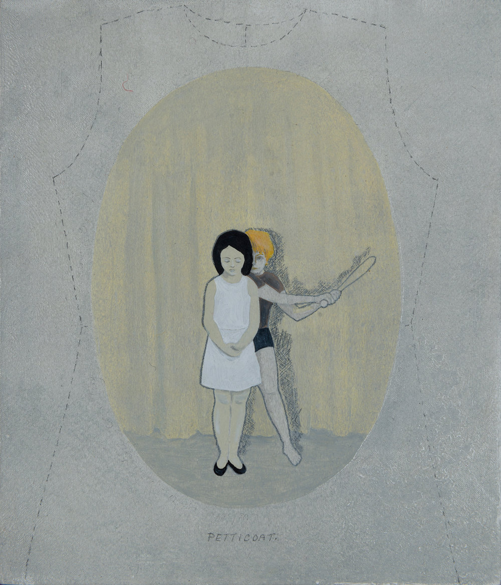 3. Peggy Lyon, 'Someone Else's Family', Acrylic, mixed media on board, 2009, 23 x 19 cm, On loan from a Private Collection  Photographer Eva Fernandez