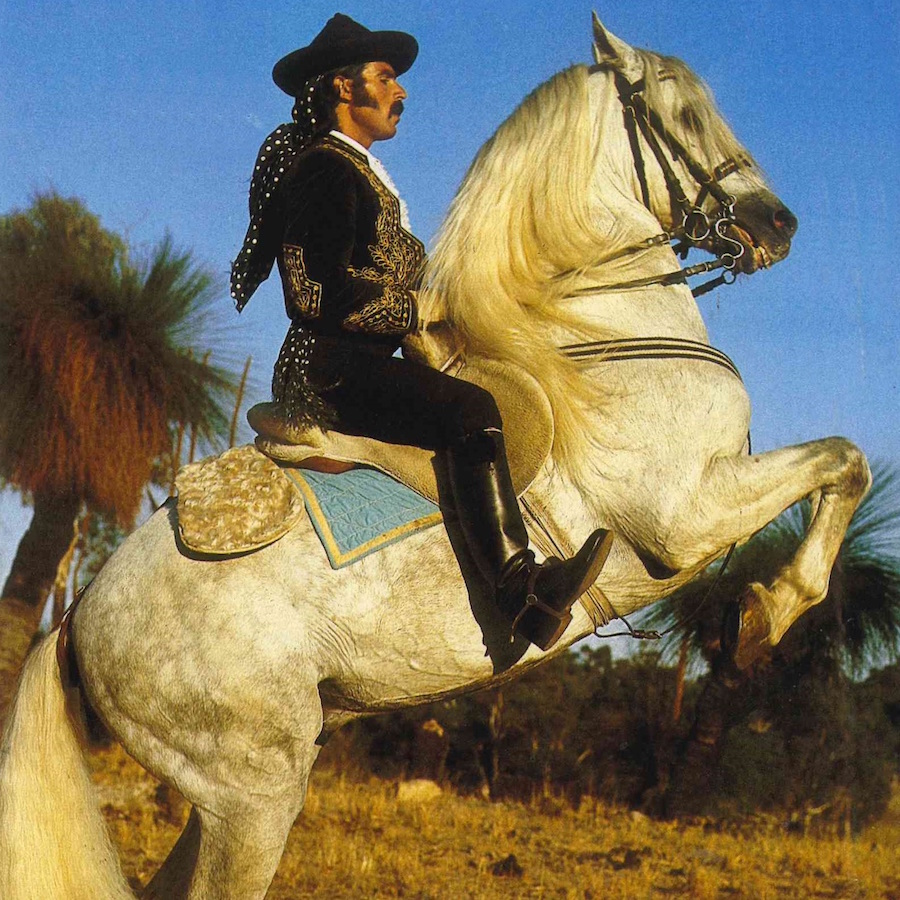 Image: Ramon Guerrero riding Cazador, El Caballo Blanco  Photographer: Richard Woldendorp
