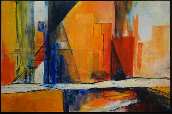 2. Karen Frankel, 'City - After Zagoria', 2015, Mixed media on canvas, 91 x 61cm, $1,100