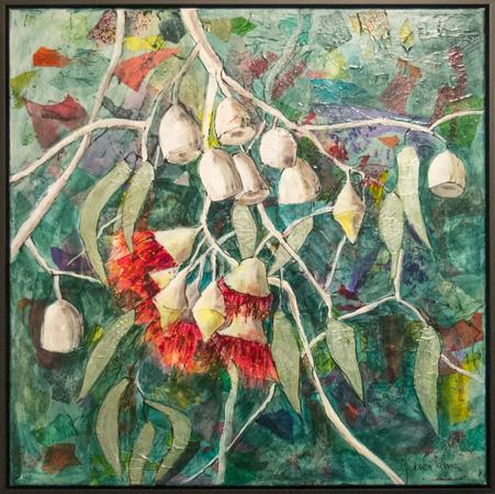 8. Karen Frankel, 'Silver Princess', 2017, Mixed media on canvas, 75.5 x 75.5cm, $1,200